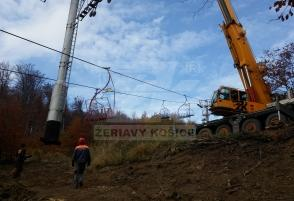Chairlift pylon replacement